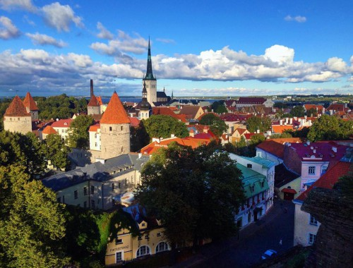In love with Tallinn, had a great afternoon walking the Old City walls and taking in this view of the Old Town. #tallinn #Estonia