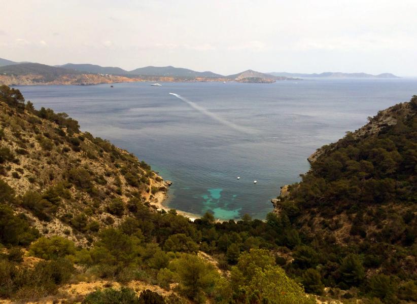 Overlooking Cala Llentrisca