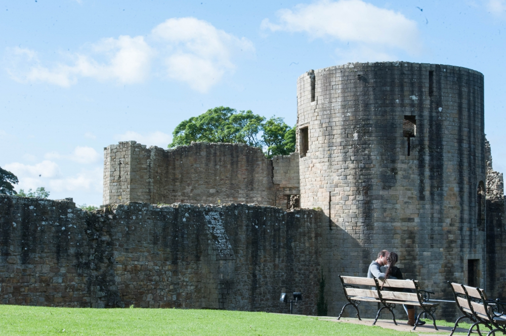 Taking a moment at Barnard Castle