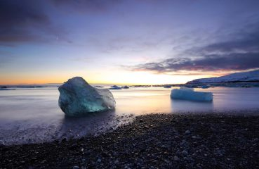 Icebergs on Jökulsárlón Black Beach