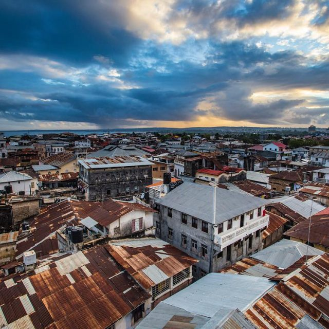 Views over Stone Town in Zanzibar