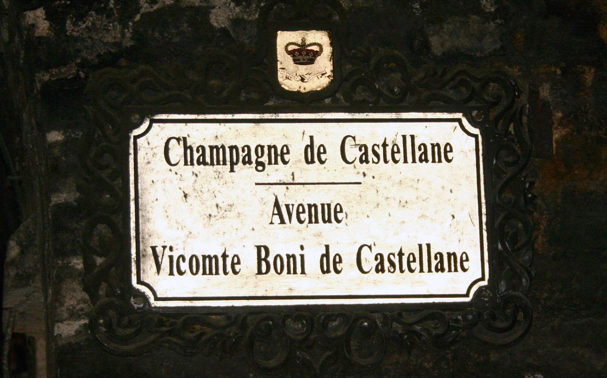 Cellar Signage: Avenue Vicomte Boni de Castellane