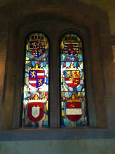 Window with coat-of-arms in the Knights Hall