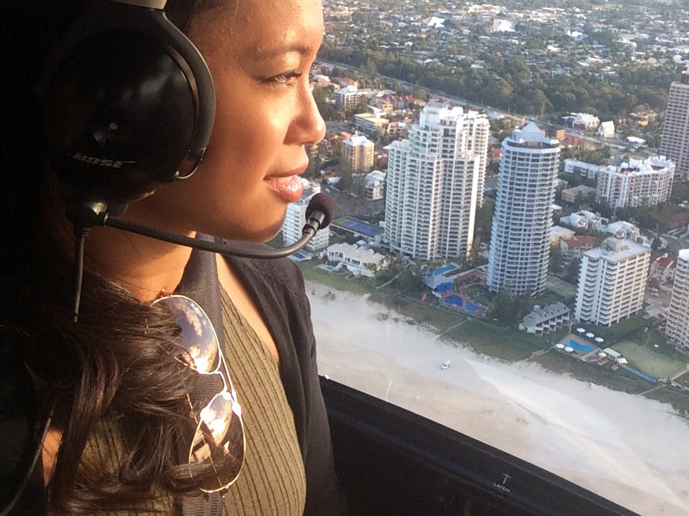 Helicopter ride over the Gold Coast