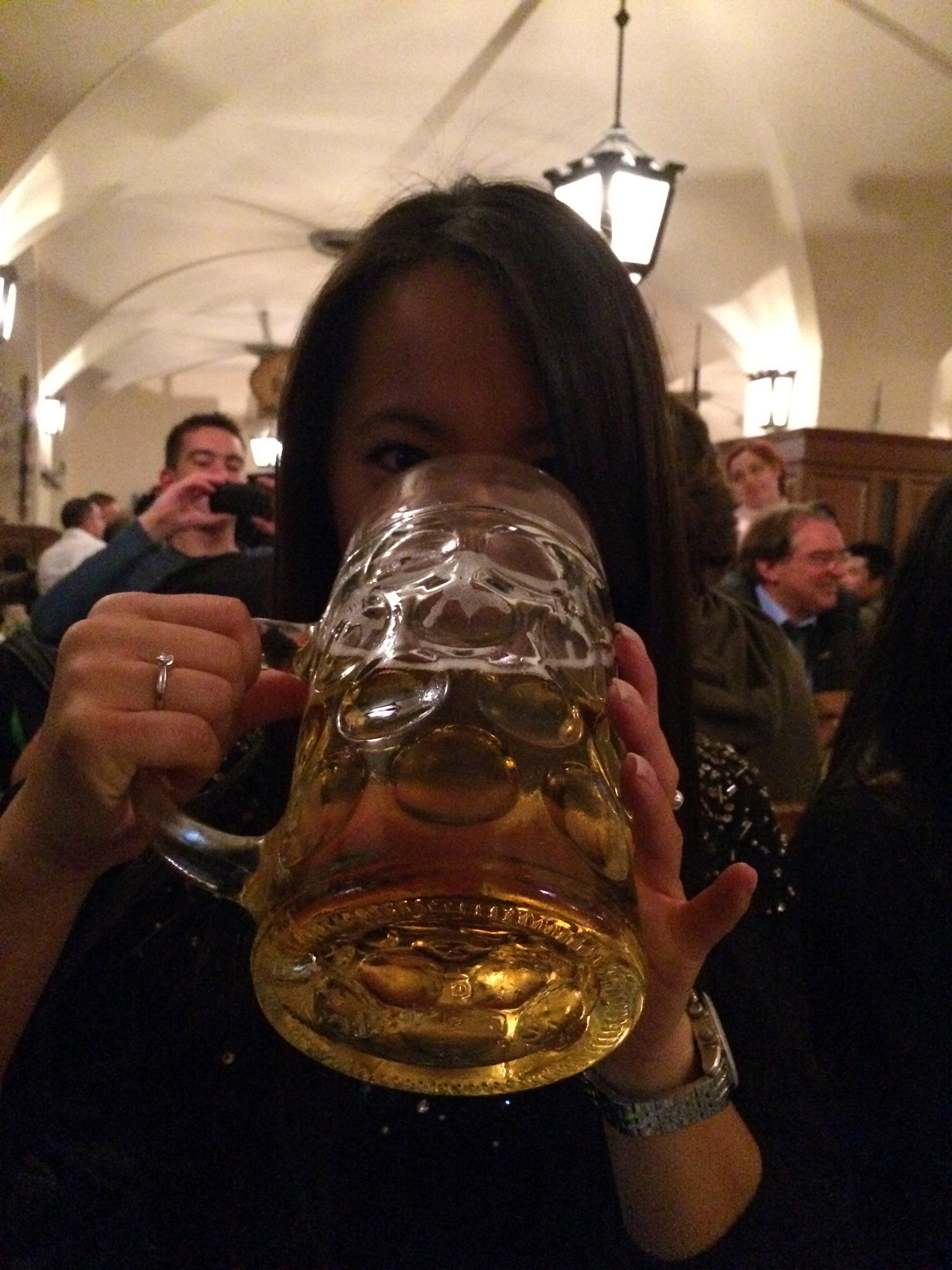 With my Stein in the Hofbräuhaus