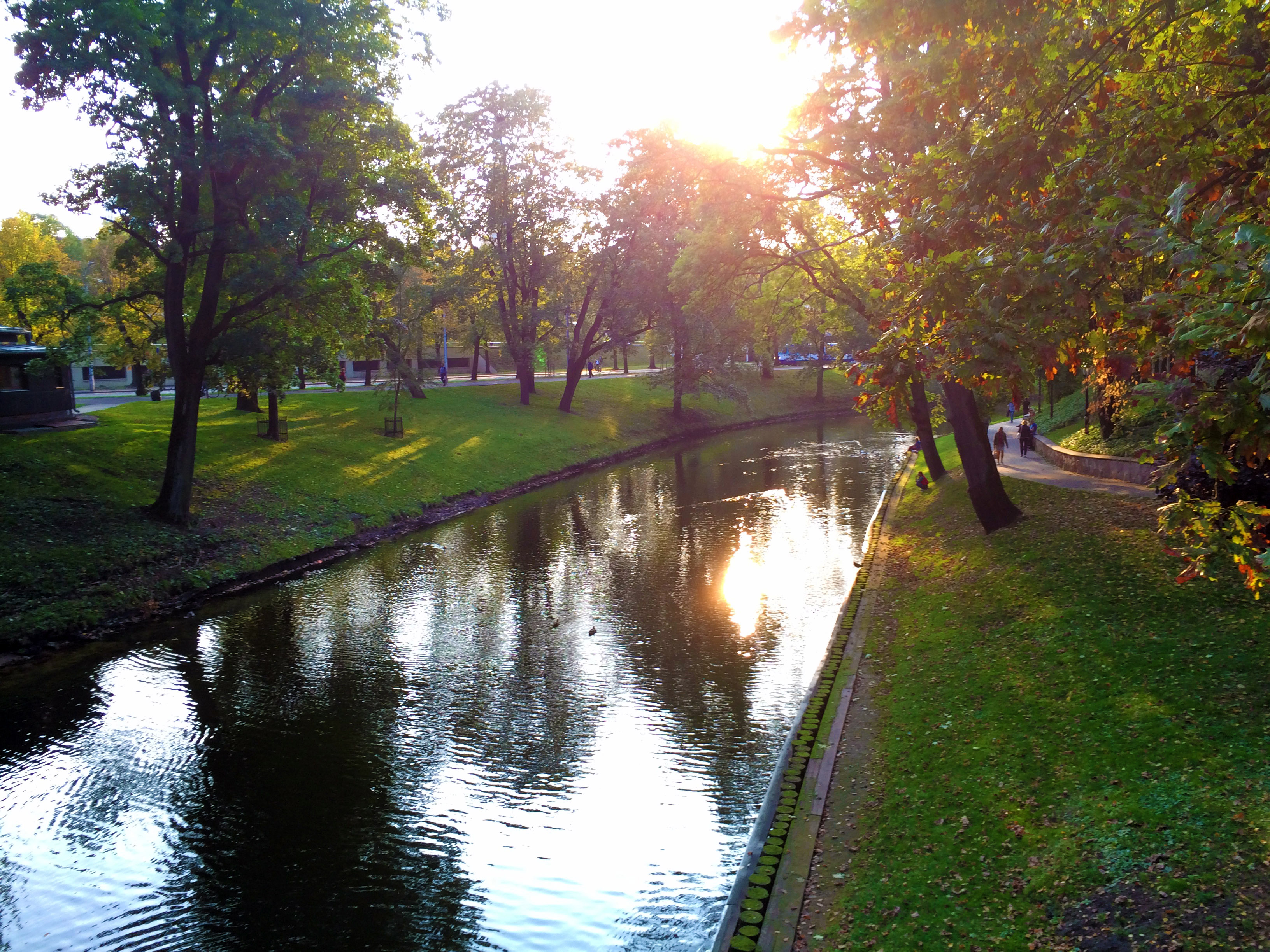 Walking around the Riga Canal