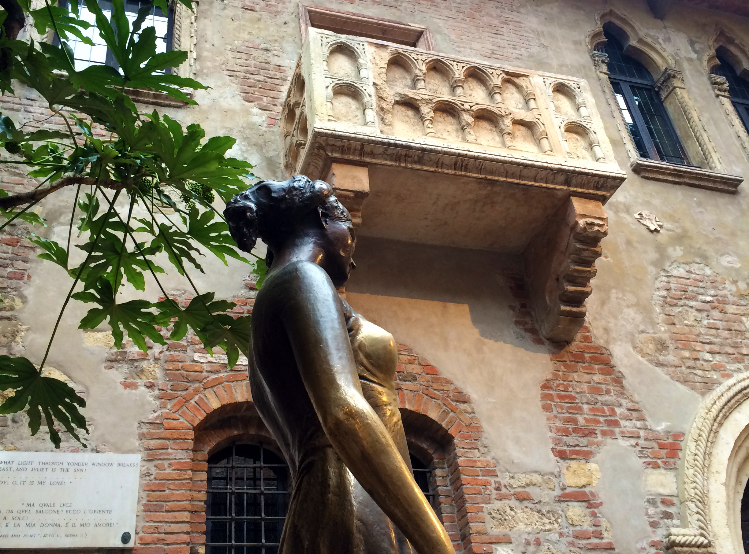 Juliet and her famous balcony