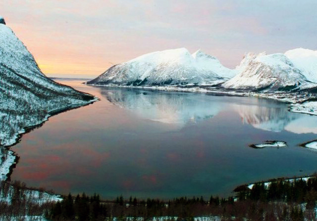 Senja at Sunset in Norway