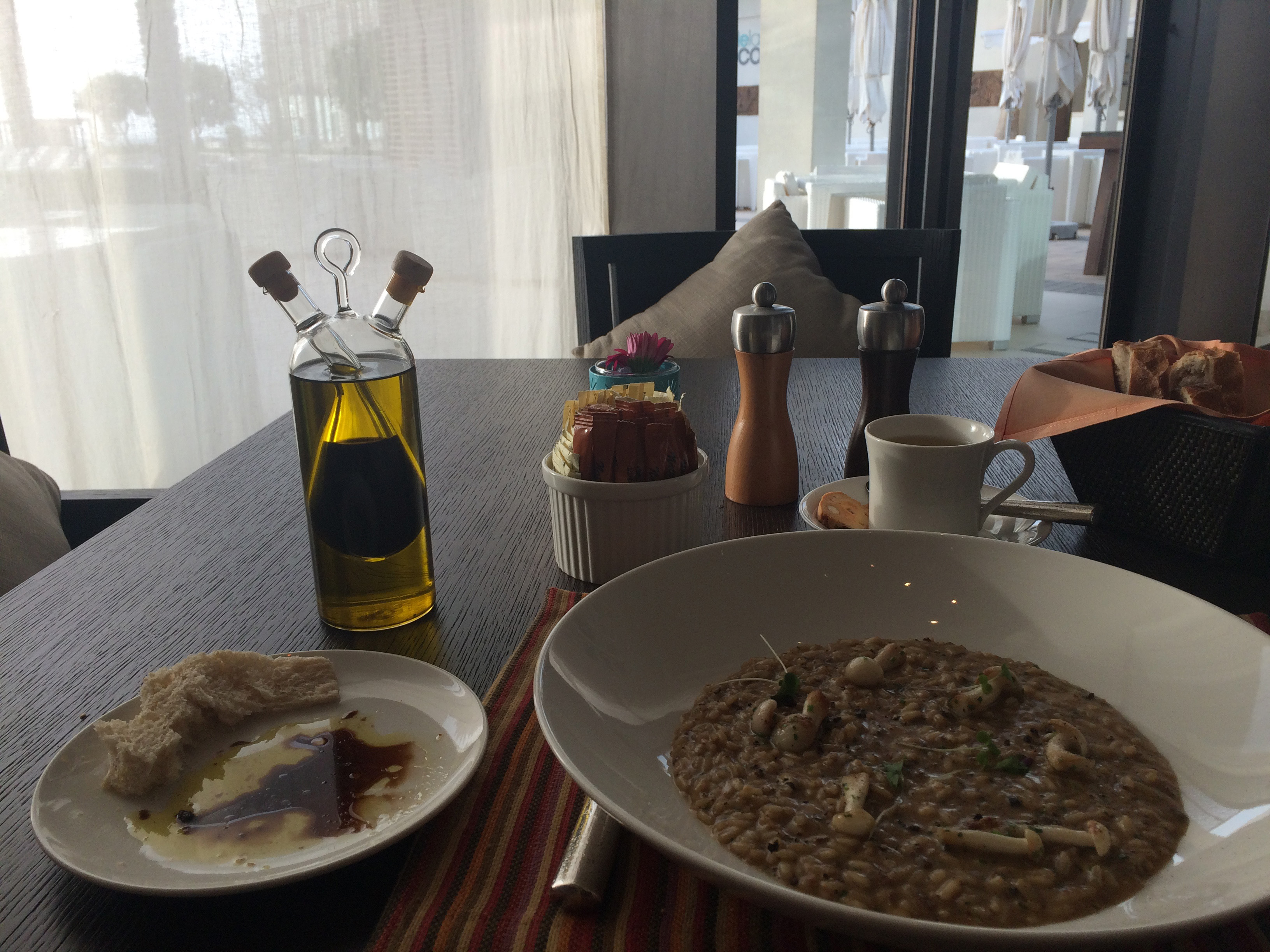 Risotto in the Safina Restaurant