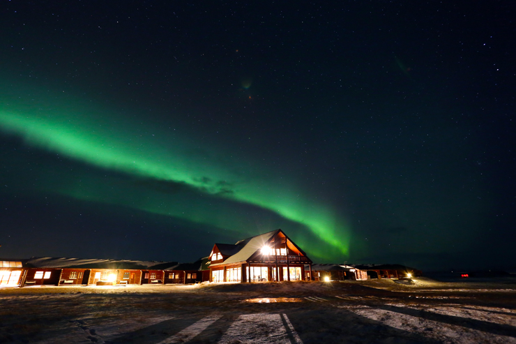 Northern Lights over Hotel Ranga