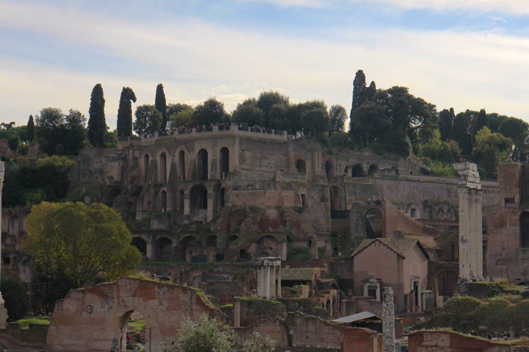 View of Palatine Hill in the Roman Forum