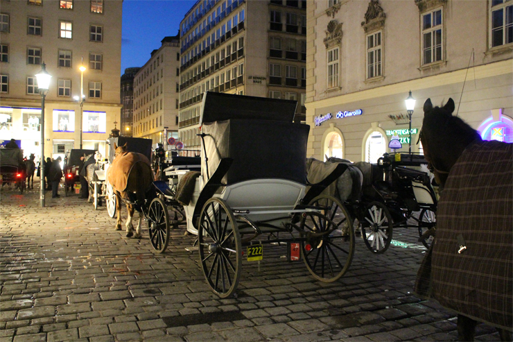 Horse and Carriages outside St. Stephen's Cathedral