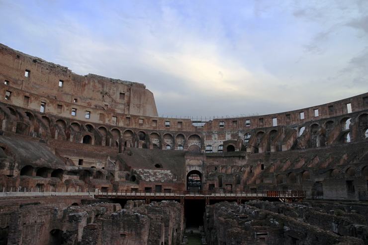 Alone at the Colosseum