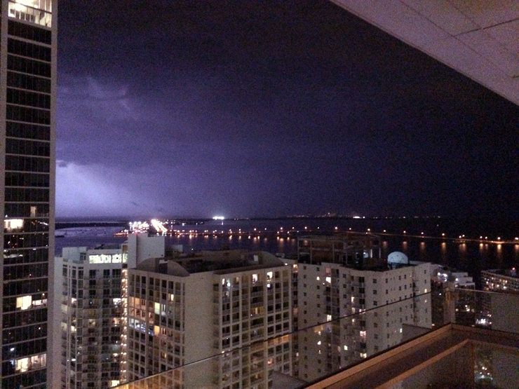 Lightning over the Bay