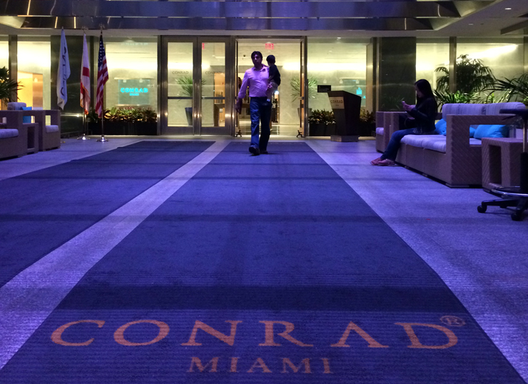 The Entrance to the Conrad Hotel Miami