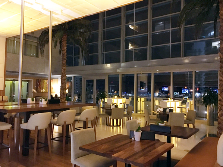 The Bar area at the Conrad Hotel Miami