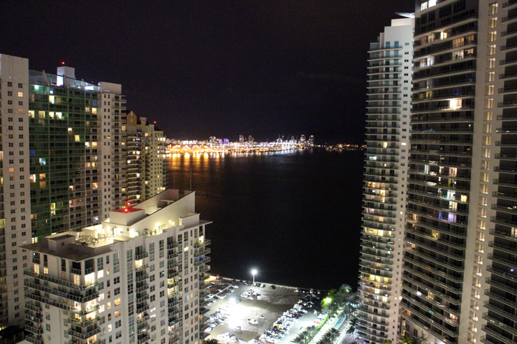 The view from the Conrad Hotel Miami
