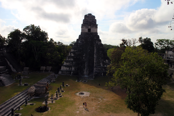 Temple I across the Grand Plaza, from the top of Temple II at Tikal