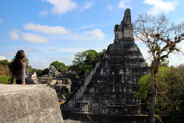 Temple I from the Central Acropolis, Tikal