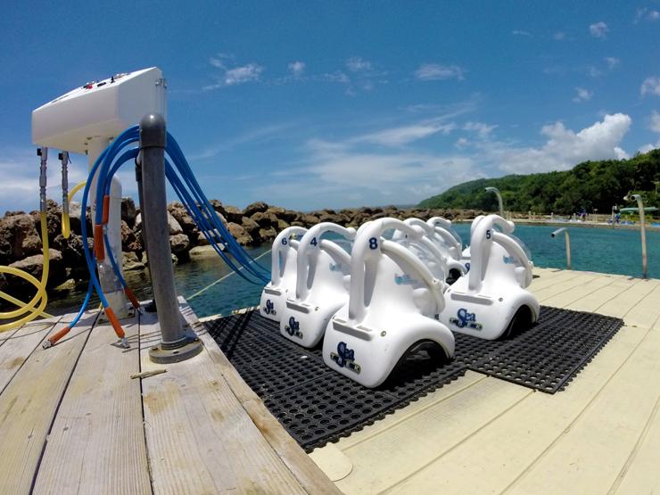 SeaTrek Helmets Dolphin Cove Ocho Rios