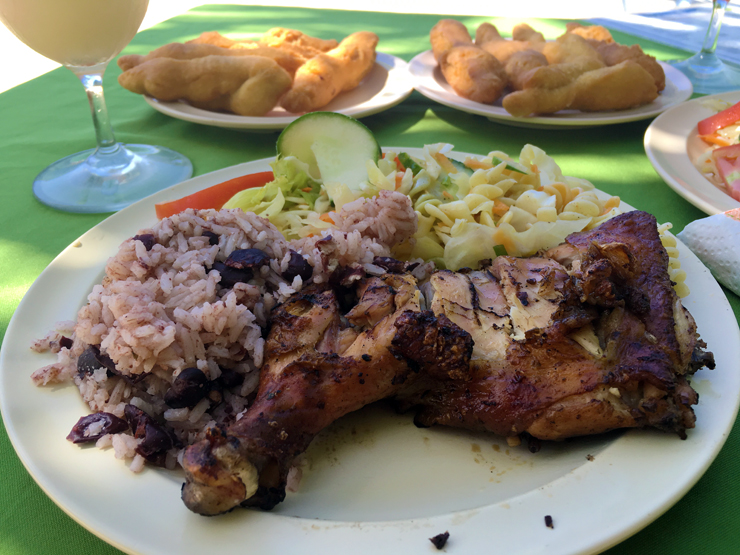 Classic Jerk Chicken Plate and Festivals at Frenchman's Cove