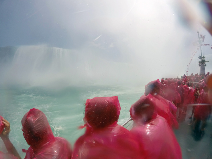 Niagara Falls, Into the Mist, Hornblower cruises, boat ride, Horseshoe Falls, Canadian Falls, American Falls