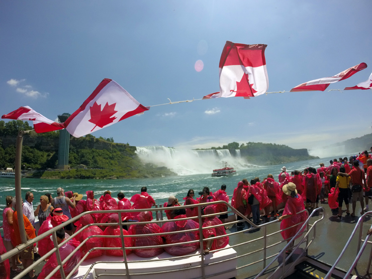 Niagara Falls, Into the Mist, Hornblower cruises, boat ride