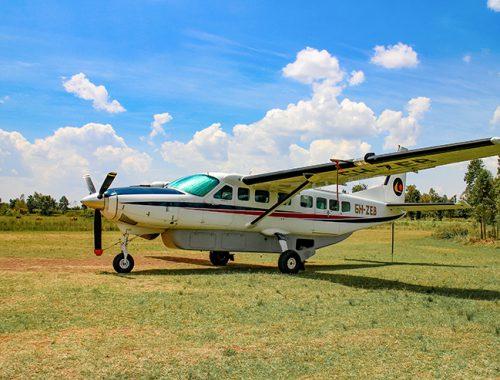 Our plane at Tarime Airport, Tanzania