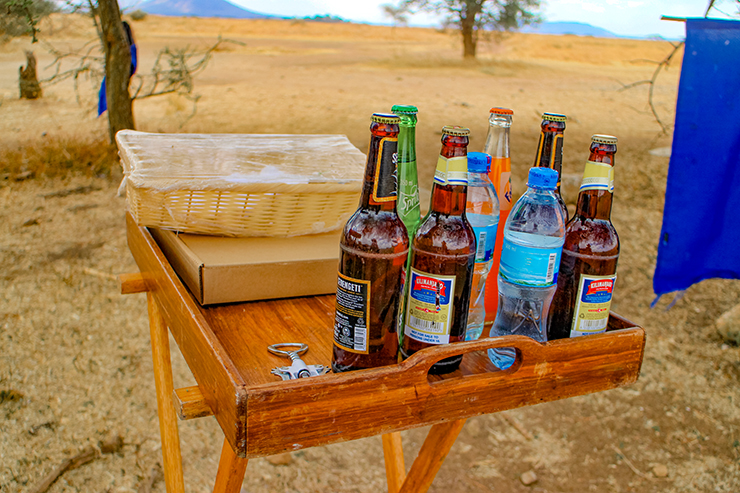 Welcome drinks at Serengeti Seronera Airport