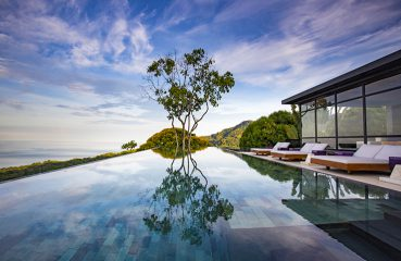 The infinity pool at Kura Design Villas