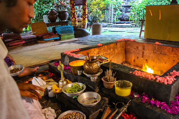 Fire Blessing in Bali