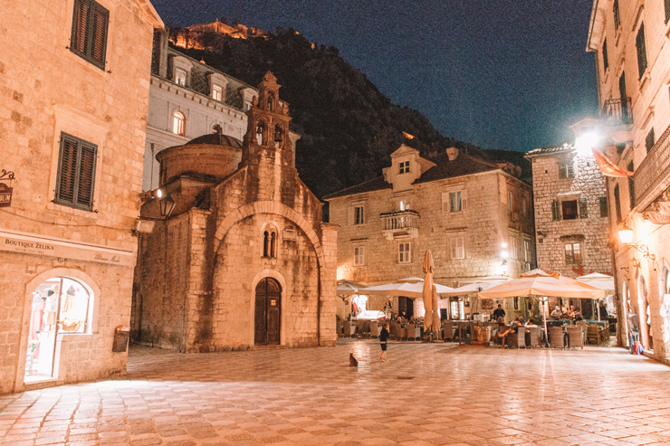 Kotor Montenegro by Night