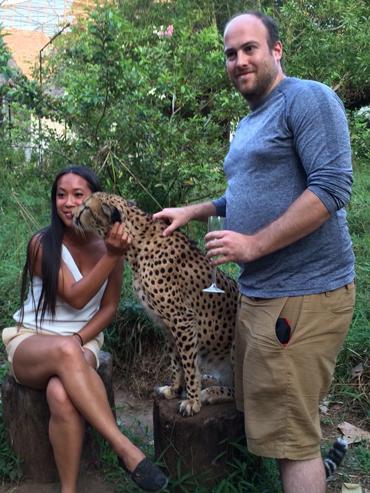 Meeting Tyson the Cheetah